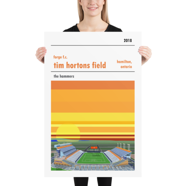 Huge Forge Hamilton and Tim Horton's Field football poster