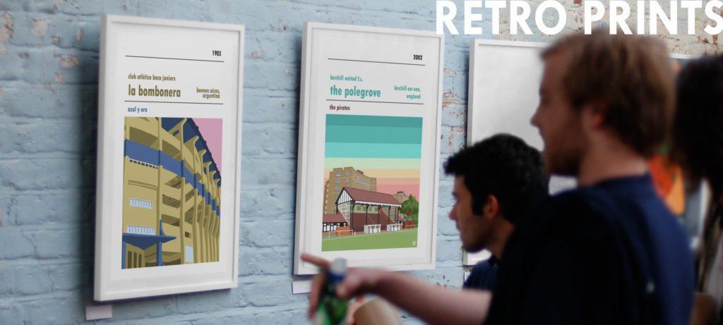 Retro Football Posters by Football stadium Prints