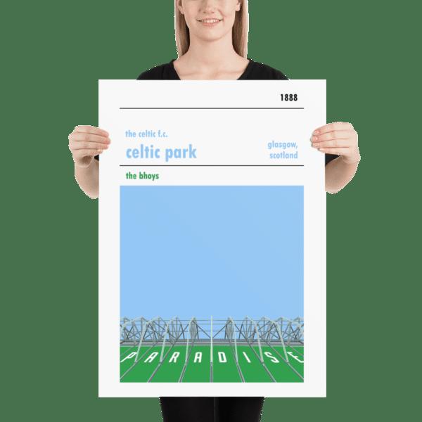 Large football print of Paradise, Celtic Park