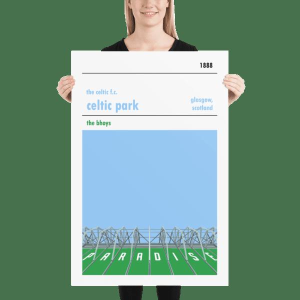 Huge football print of Paradise, Celtic Park