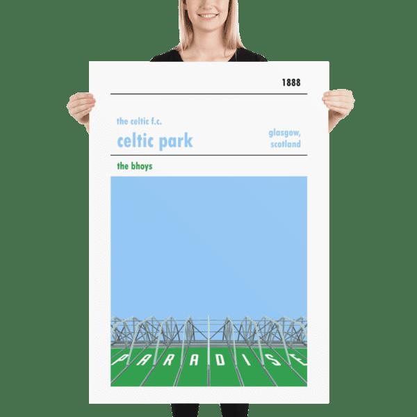 Massive football print of Paradise, Celtic Park