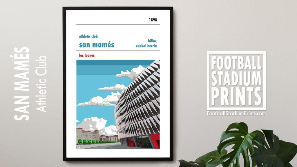 Framed Football print of Athletic Club Bilbao