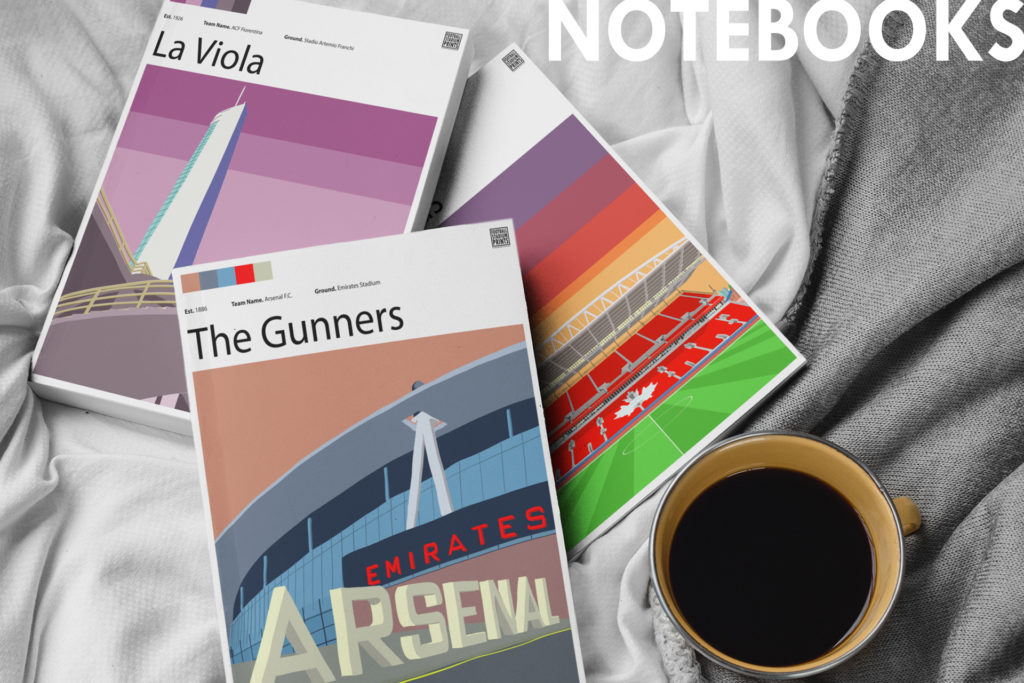Exclusive Notepads by Football Stadium Prints