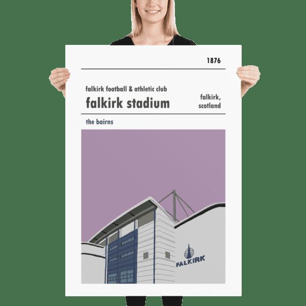 Massive Falkirk FC and Falkirk Stadium football poster