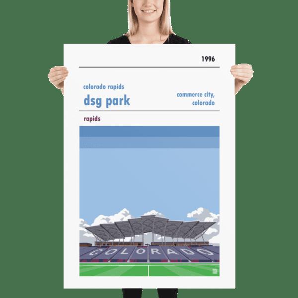 Massive football poster of Colorado Rapids and DSG Park