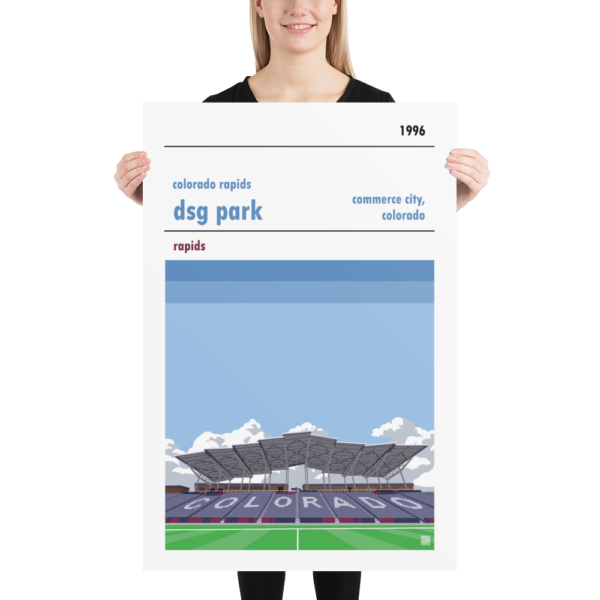 Huge football poster of Colorado Rapids and DSG Park