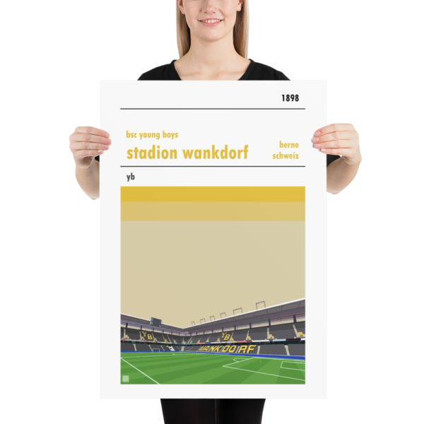 Large football poster of BSC Young Boys and the Wankdorf Stadion