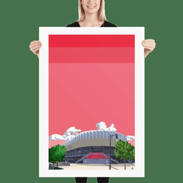 Massive football poster of the Red Bull Arena, New York Red Bulls