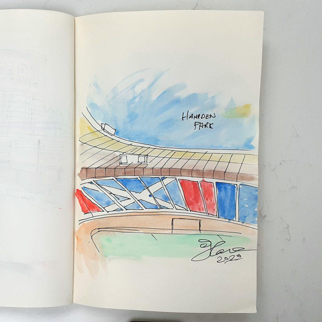 Hampden sketch by Steve Stewart