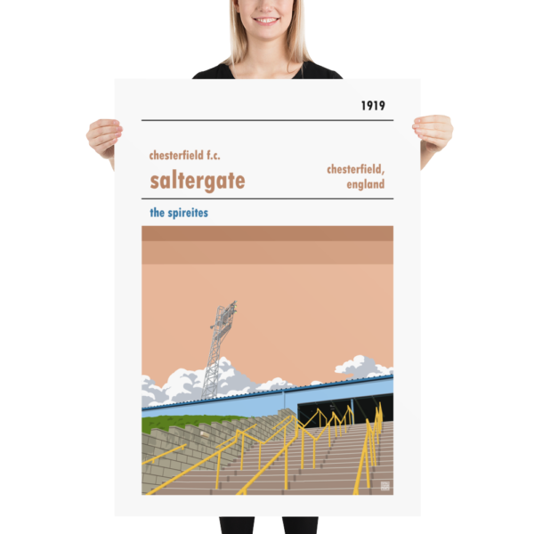 Huge Chesterfield FC and Saltergate Football poster