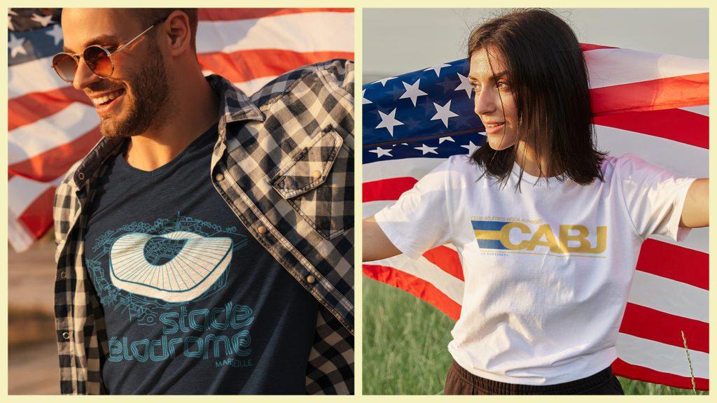 Football stadium Prints T-shirts for America