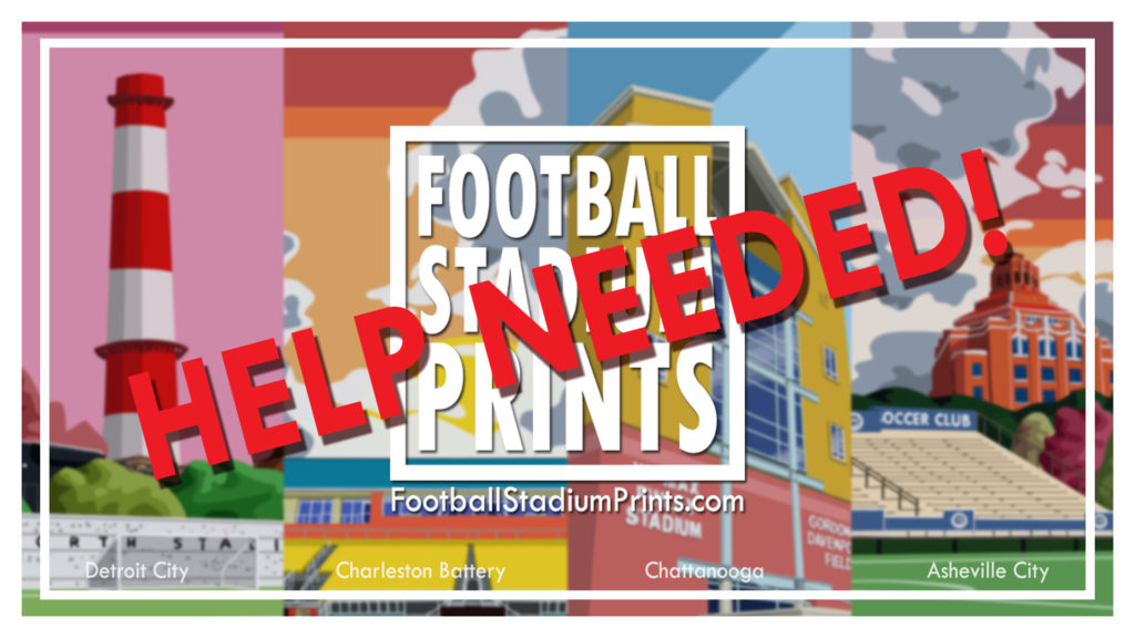 Twitter Admin help for Football stadium Prints