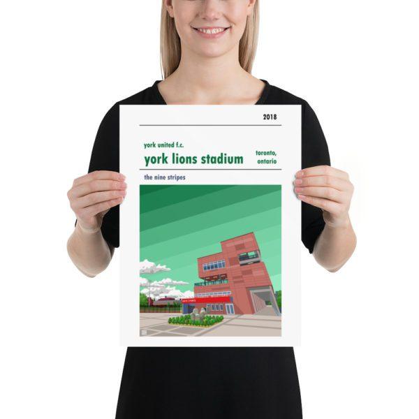Medium York Lions Stadium and York United FC football poster