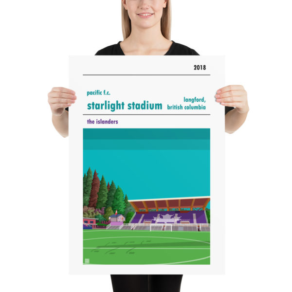 Large Pacific FC and Starlight Stadium football poster
