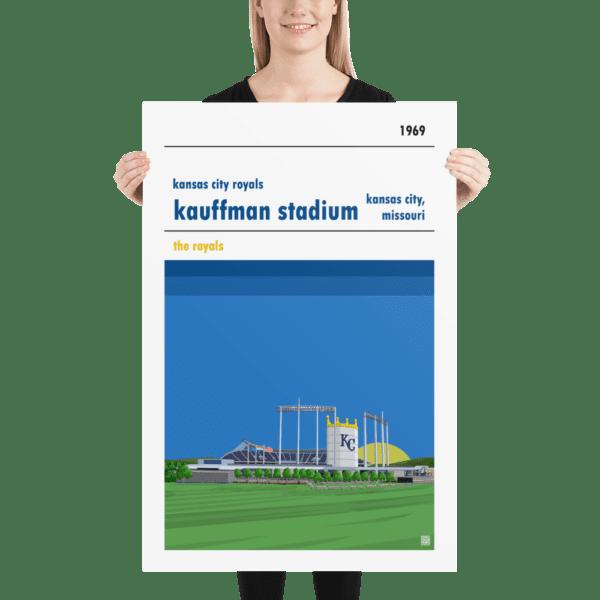 Massive Kauffman Stadium and Kansas City Royals Baseball Poster