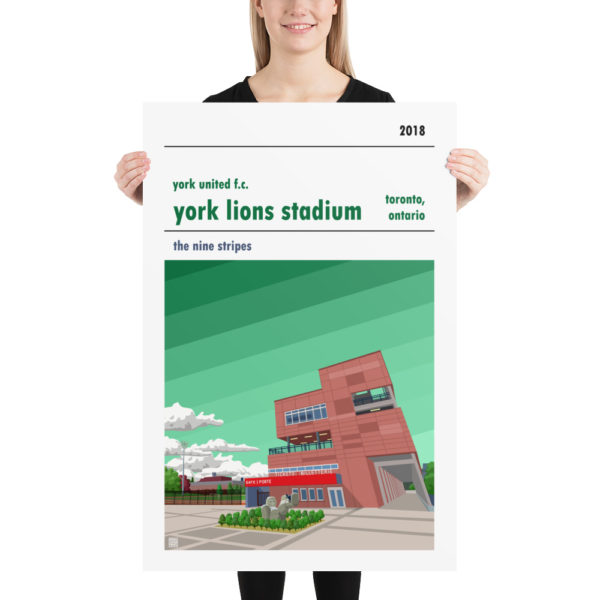 Huge York Lions Stadium and York United FC football poster