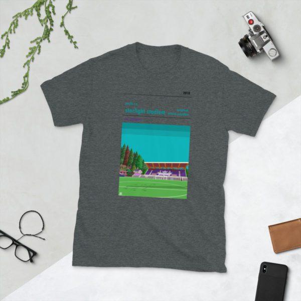 Dark grey Pacific FC and Starlight Stadium t-shirt