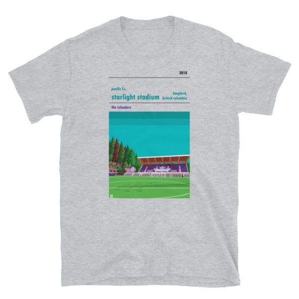 Gray Pacific FC and Starlight Stadium t-shirt