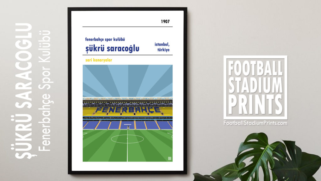 Framed football poster of Fenerbahce