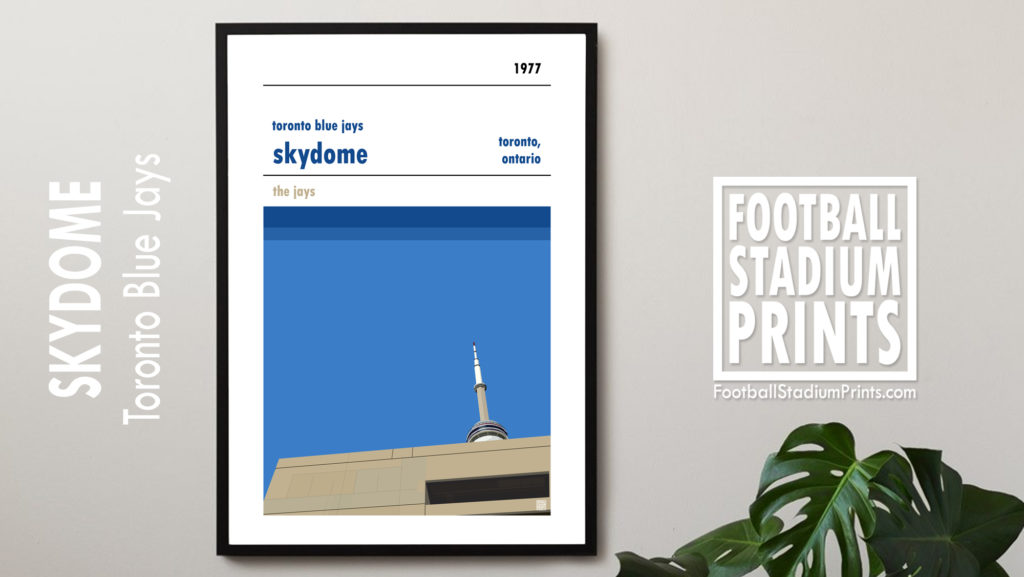 Framed Baseball poster of Toronto Bluejays and the Skydome