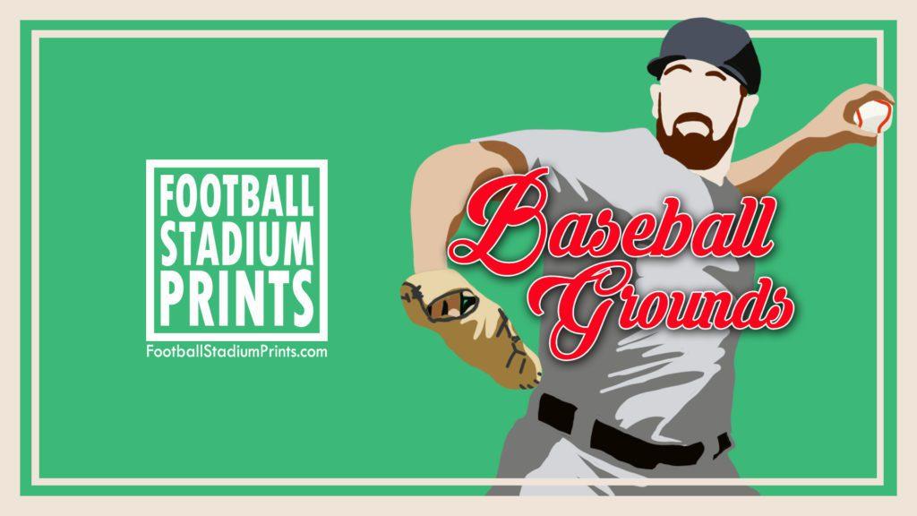 Baseball Grounds by Football Stadium Prints