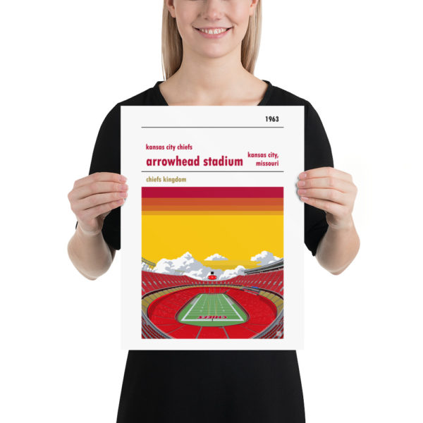 Medium Arrowhead Stadium and Kansas City Chiefs FC Football poster