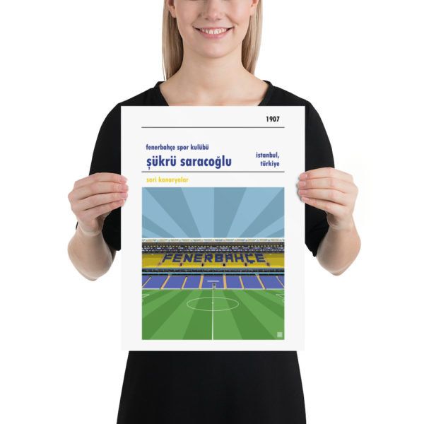 Football poster of Fenerbahce and Sukru Saracoglu