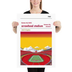 Large Arrowhead Stadium and Kansas City Chiefs FC Football poster