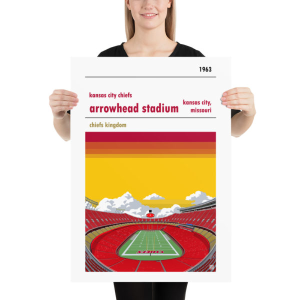 Large Arrowhead Stadium and Kansas City Chiefs FC Football poster