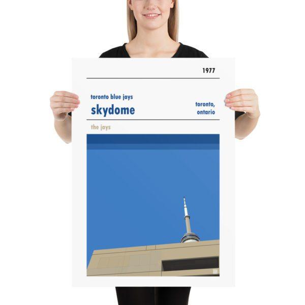 LArge Skydome and Toronto Blue Jays Baseball poster