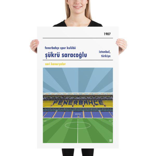 Huge football poster of Fenerbahce and Sukru Saracoglu