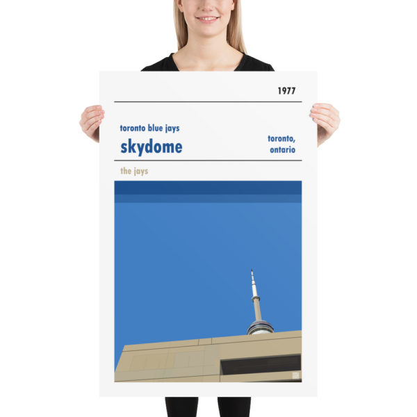 Huge Skydome and Toronto Blue Jays Baseball poster