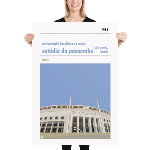 Massive rugby poster of Estadio do Pacaembu and Brazilian Rugby