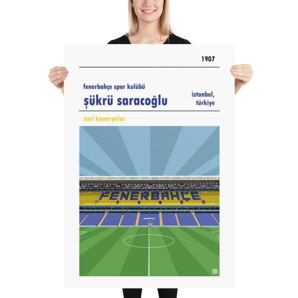 Massive football poster of Fenerbahce and Sukru Saracoglu