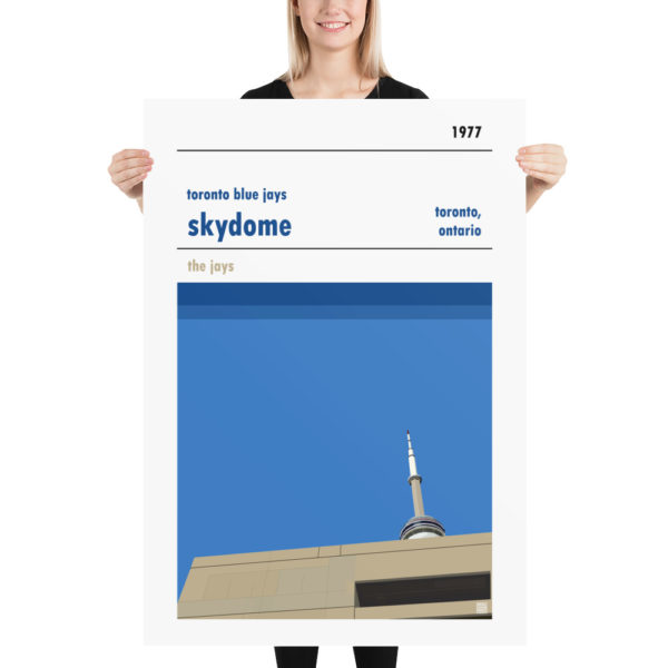 Massive Skydome and Toronto Blue Jays Baseball poster