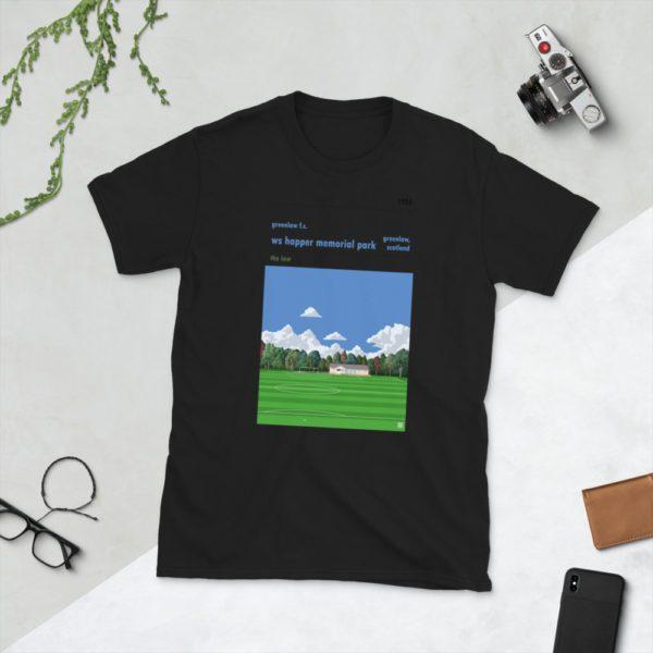 Black Greenlaw FC and Happer Park T-Shirt