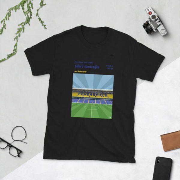 Black Fenerbahce and Sukru Saracoglu t-shirt