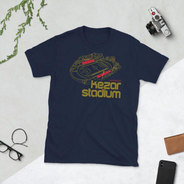 Navy Kezar Stadium and San Francisco City FC T-Shirt