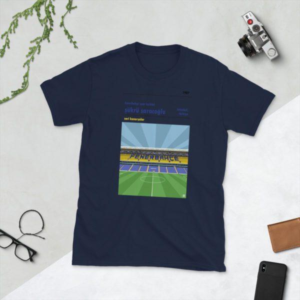 Navy Fenerbahce and Sukru Saracoglu t-shirt