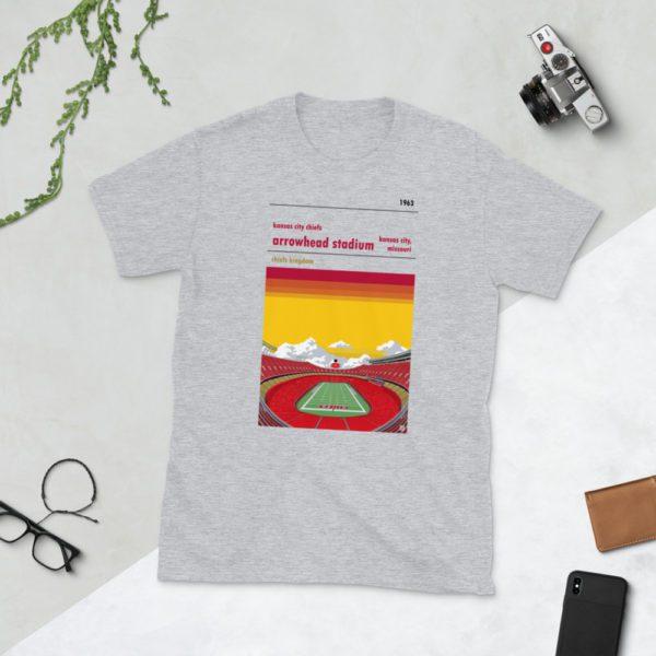 Grey Arrowhead Stadium and Kansas City Chiefs FC T-Shirt