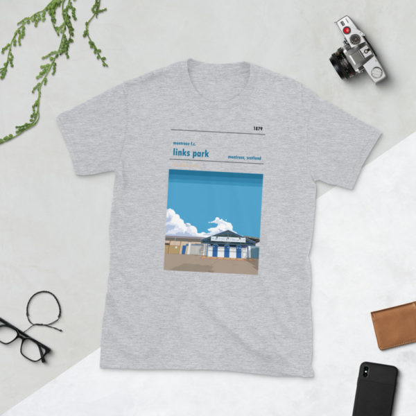 Grey Links Park and Montrose FC t-shirt