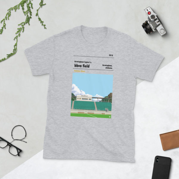 Grey Birmingham Legion and BBVA Field t-shirt