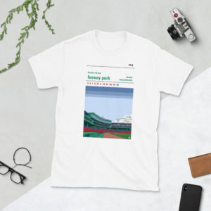 White Fenway Park and Boston Red Sox t-shirt