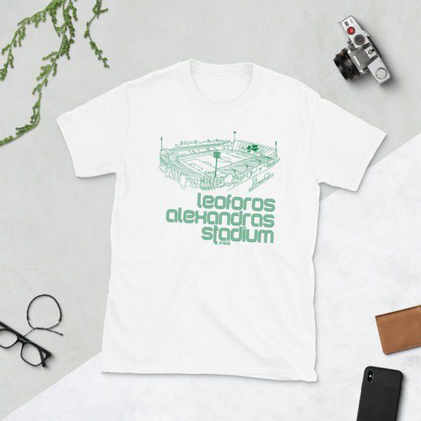 White Panathinaikos and Leoforos Alexandras Stadium t-shirt