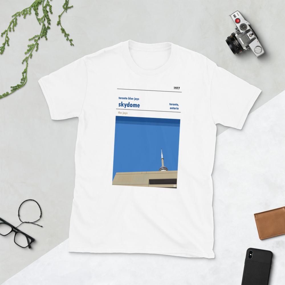White Skydome and Toronto Blue Jays Baseball T-Shirt