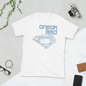 White ONEOK Field and Tulsa Drillers t-shirt