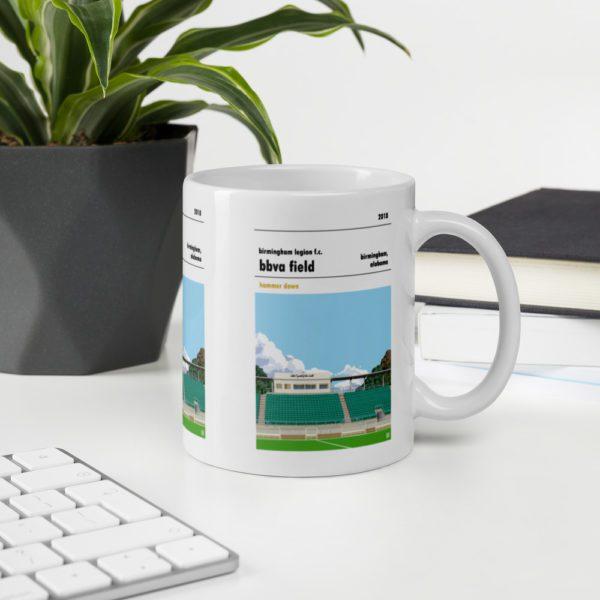 Birmingham Legion and BBVA Field football Coffee Mug