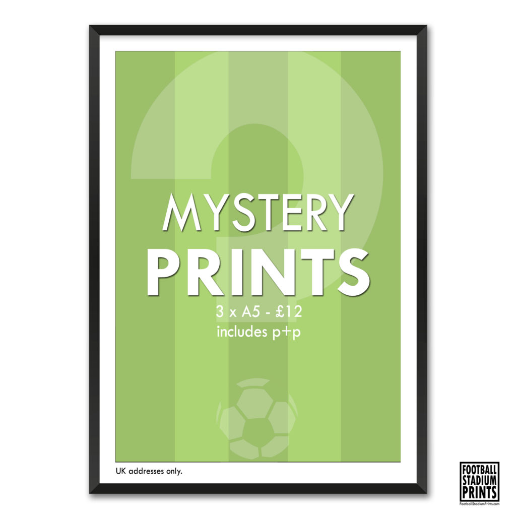 3 A5 Mystery Prints from Football stadium Prints