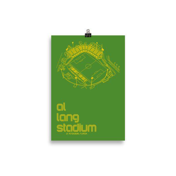 Small green Al Lang Stadium and Tampa Bay Rowdies Soccer Poster
