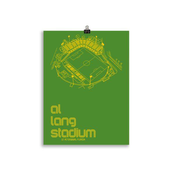 Green Al Lang Stadium and Tampa Bay Rowdies Soccer Poster